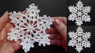 getlinkyoutube.com-Cнежинки крючком видео   Crochet snowflake