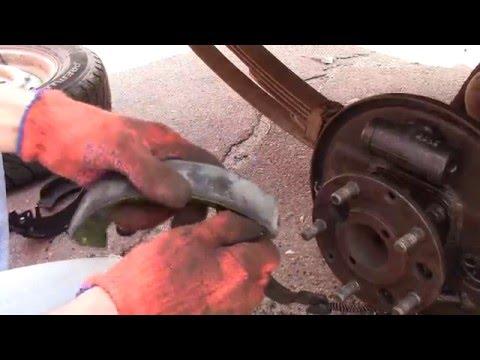 Ремонт задних тормозов и настройка ручника (москвич 2140)