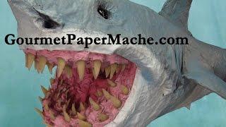 """getlinkyoutube.com-Paper Mache """"Great Bite"""" Shark"""