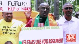 Nigeriens protest against lack of democracy at the UN Headquarters