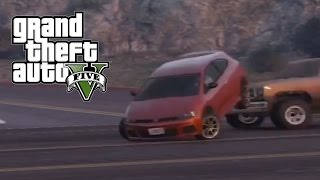 Best Car Crash Compilation #8 In Grand Theft Auto 5 (GTA V)