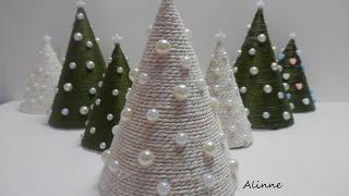 getlinkyoutube.com-Mini árvore natalina - Artesanato Passo a passo