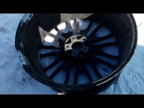 """Ремонт диска на 22"""" от BMW X6"""