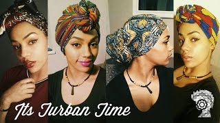 getlinkyoutube.com-It's Turban Time! Headwrap Tutorial