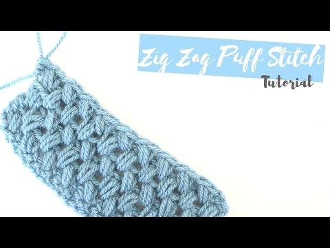 CROCHET: How to crochet the Zig Zag puff stitch | Bella Coco