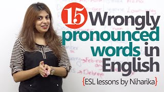 getlinkyoutube.com-Learn English - 15 wrongly pronounced words in English (English lessons for speaking)