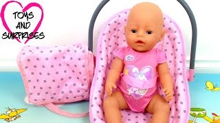 getlinkyoutube.com-Видео про куклу Baby Born игрушки для девочек Собираем сумку Мамы для прогулок с малышом Baby Doll