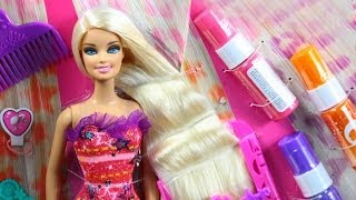 getlinkyoutube.com-Barbie Hairtastic Color & Design Studio / Salon Fryzjerski Barbie - www.MegaDyskont.pl - sklep