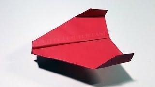 getlinkyoutube.com-Papierflieger selbst basteln. Papierflugzeug falten - Beste Origami Flugzeug   Sky Flyer