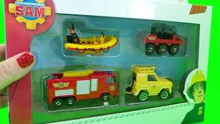 getlinkyoutube.com-Feuerwehrmann Fireman Sam DICKIE Toys Jupiter Fire Engine, Hydrus 4X4 and Neptune Boat Episode