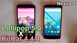 getlinkyoutube.com-Android Lollipop 5.0 vs KitKat 4.4.4 - Performance Comparison (Nexus 5)