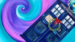 getlinkyoutube.com-Doctor Who Dunnit Art Crawl  Easy Acrylic Painting Tardis