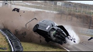 getlinkyoutube.com-Volkswagen Golf 5 GTI Big Crash - Time Attack Zandvoort
