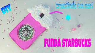 getlinkyoutube.com-Diy Funda de móvil Starbucks con foamy y silicona