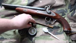getlinkyoutube.com-Streľba z Pedersoli Howdah Hunter 20/20 ( shooting test)