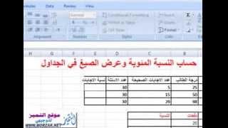 getlinkyoutube.com-شرح طريقة حساب النسبة المئوية بالاكسل 2007