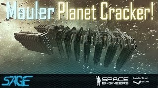 getlinkyoutube.com-Space Engineers, Mauler (Planet Cracker)