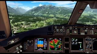 getlinkyoutube.com-FSX Maxed Out |  PMDG 777 | Approaching Innsbruck, RWY 08