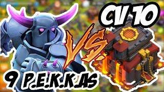 getlinkyoutube.com-Clash of Clans - Atacando com 9 PEKKAS VS. CV 10 | ATAQUE FULL P.E.K.K.A