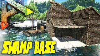 getlinkyoutube.com-Ark Survival Evolved Ep23 - SWAMP FORTRESS! - Swamp Biome Building Gameplay