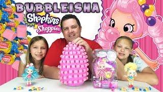 getlinkyoutube.com-Giant Food Surprise Egg - Shopkins Shoppies Dolls - Bubbleisha