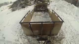 getlinkyoutube.com-How to Unload trailer with winch - (DIY) Do it yourself dump trailer