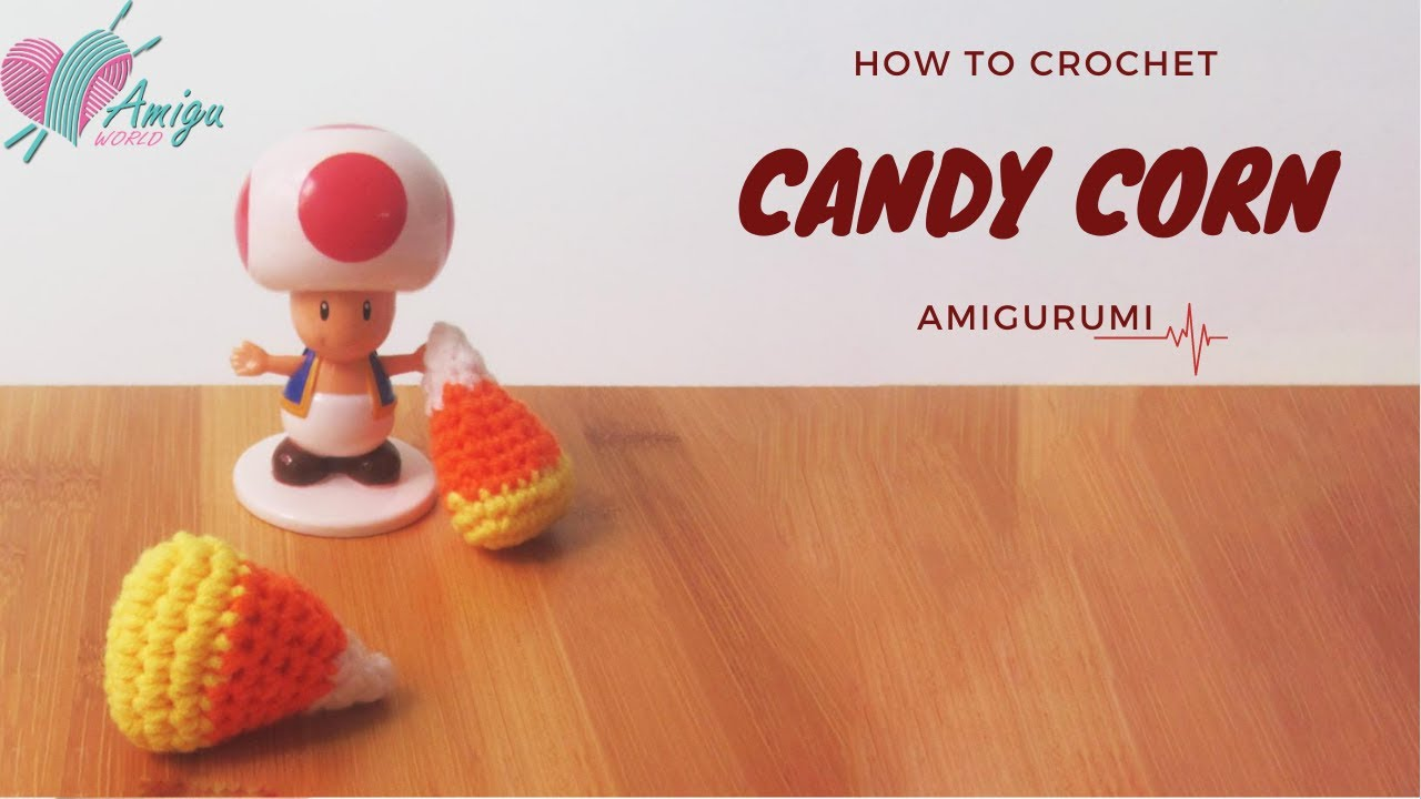 FREE Pattern – How to crochet CANDY CORN amigurumi