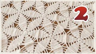 getlinkyoutube.com-モチーフをつなぐショール・ブランケットの編み方(2)【かぎ編み】モチーフのつなげ方