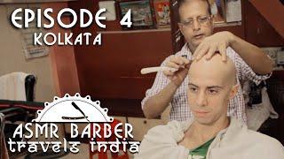 Indian Head Shave in Kolkata Barber Shop - ASMR no talking video