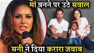 People Trolls Sunny Leone How She Became Mother, She Gave Epic Reply