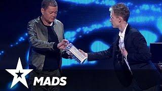 Kan Mads gætte hvad dommerne tænker? | Danmark Har Talent 2017 | Liveshow 2