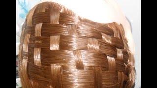 getlinkyoutube.com-Peinado: Tapetillo o canasta como diadema con trenzas