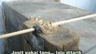 getlinkyoutube.com-CARA MUDAH BUAT BATANG BAMBU BULAT 2