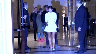 getlinkyoutube.com-EXCLUSIVE - Kim Kardashian and Kanye West show affection at a Party in Paris