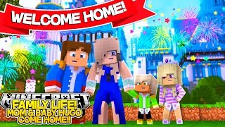 getlinkyoutube.com-Minecraft FAMILY LIFE: MOM & BABY HUGO ARE COMING HOME!! Little Donny Roleplay!