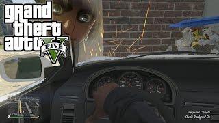 getlinkyoutube.com-GTA 5 - First Person Driving and Crashing (GTA V PS4 Gameplay)