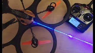 getlinkyoutube.com-Flying Laser aka Laser Drone / UAV : balloon hunting.