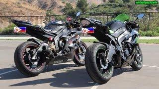 getlinkyoutube.com-Yamaha R6 or Kawasaki Ninja ZX6R? M4 or Two Brothers Exhaust? Sound Test