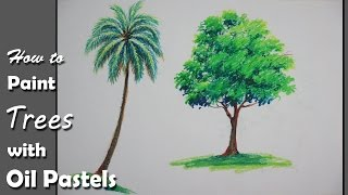 getlinkyoutube.com-How to Paint Trees with Oil Pastels