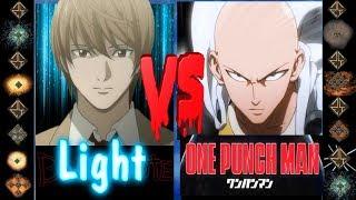 Light (Death Note) vs Saitama (One Punch Man) - Ultimate Mugen Fight 2017