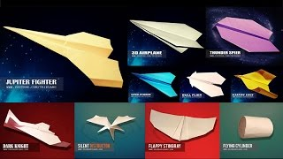 getlinkyoutube.com-EASY PAPER PLANES | How to Make 5+ Simple Paper Airplanes that Fly [ Collection #1 ]
