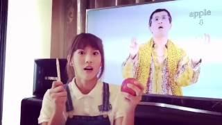 getlinkyoutube.com-JoyceChu四葉草版 PPAP Pen-Pineapple-Apple-Pen