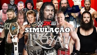 WWE 2K16 - ROYAL RUMBLE 2016 - ROYAL RUMBLE MATCH (WWE World Heavyweight Championship) Highlights