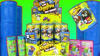 getlinkyoutube.com-The Ugglys Pet Shop Surprise Cans Full Box Unboxing Toy Review + The Trash Pack Moose Toys