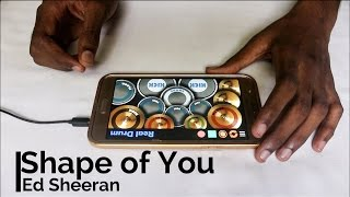 Shape Of You - Ed Sheeran (bvd kult Remix) (Real Drum App Cover) - By Vijay Yadavar. width=