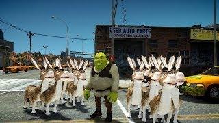 getlinkyoutube.com-Grand Theft Auto IV - Shrek And Donkey (MOD) HD