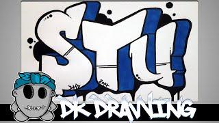 getlinkyoutube.com-How to draw graffiti - Graffiti Letters STU step by step