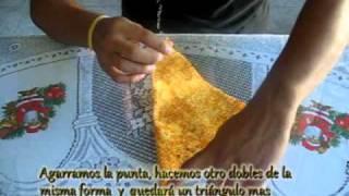 getlinkyoutube.com-flor de tela - técnica Origami