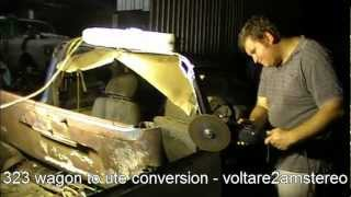 Station wagon to ute subarute style (pickup truck) conversion -