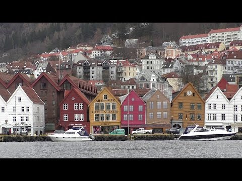 Cruise In To Bergen Norway and Mount Floyen Funicular Railway
